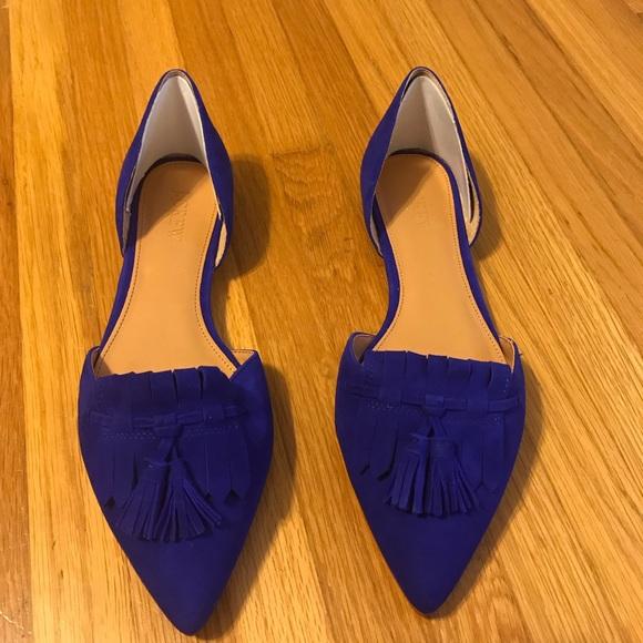 3cbb42409 J. Crew Factory Shoes | J Crew Suede Dorsay Blue Loafer Flats | Poshmark